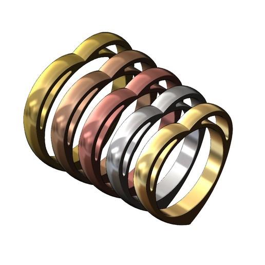 heart-ring-07.JPG Télécharger fichier 3MF Modèle d'impression 3D d'un anneau en forme de cœur • Design pour impression 3D, RachidSW