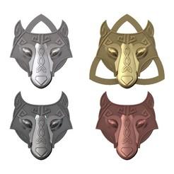 Download 3D printer templates Fenrir Viking Wolf Pendant 3D print model, RachidSW