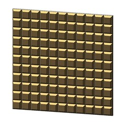 3D-P2-0.JPG Download 3MF file chocolat squares pattern 3d panel 3D print model • 3D printer template, RachidSW