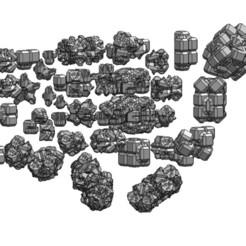 Télécharger STL Modèle d'impression 3D de débris spatiaux et d'astéroïdes géométriques, RachidSW