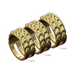 Keeper-ring-v1-size8-7-6-00.JPG Download 3MF file Victorian Double row keeper ring 3D print model • 3D printing design, RachidSW