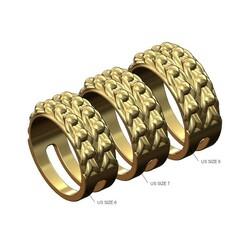 Keeper-ring-v1-size8-7-6-00.JPG Télécharger fichier 3MF Modèle victorien de bague de gardien à double rangée en impression 3D • Plan pour imprimante 3D, RachidSW