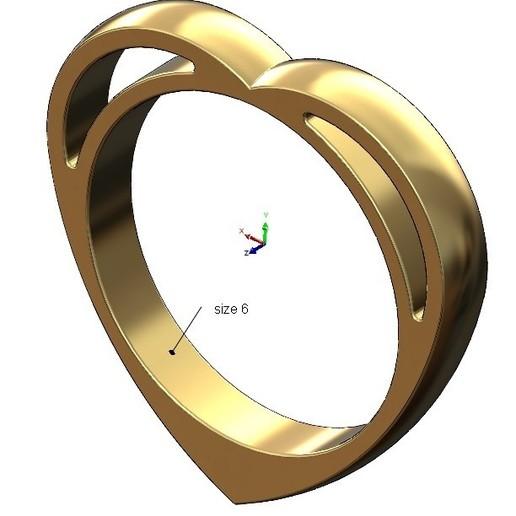 volume1.jpg Télécharger fichier 3MF Modèle d'impression 3D d'un anneau en forme de cœur • Design pour impression 3D, RachidSW