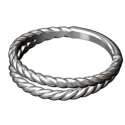Double-row-rope-ring-00.JPG Download 3MF file Double row twisted wire ring 3D print model • Object to 3D print, RachidSW