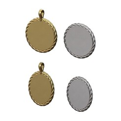 ROPE-PENDANT-00.JPG Download 3MF file Round and ovale engravable pendants 3D print model • Object to 3D print, RachidSW