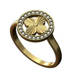 Blossom-diamond-ring-00.JPG Download 3MF file Diamond blossom ring 3D print model • Model to 3D print, RachidSW