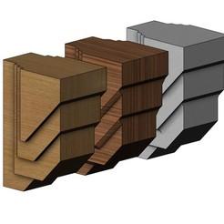 Corbel6-00.JPG Télécharger fichier 3MF Modèle d'impression 3D d'encorbellement de style new-yorkais contemporain • Modèle à imprimer en 3D, RachidSW