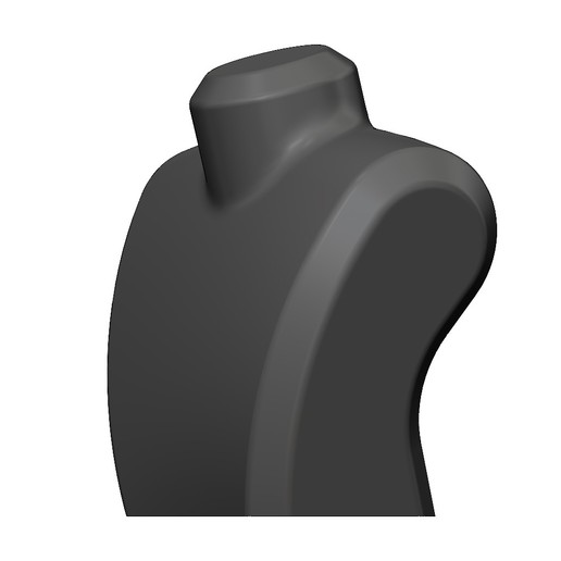 bust-shell-02.JPG Download 3MF file Plastic mannequin bust for display 3D print model • 3D printing template, RachidSW