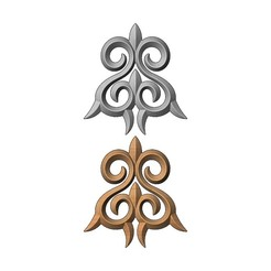 onlay9-00.JPG Download 3MF file Floral decorative element relief 3D print model • Model to 3D print, RachidSW