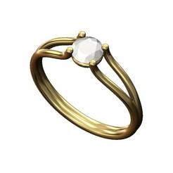 Diamond-ring-00.JPG Télécharger fichier 3MF Modèle d'impression 3D d'une bague de fiançailles à tige fendue • Objet pour impression 3D, RachidSW