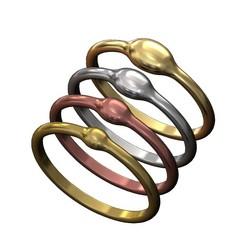 Rain Droplet Stacking Ring Set-00.JPG Download 3MF file Rain Droplet Stacking Ring Set 3D print model • 3D printable template, RachidSW