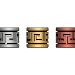 Greek-key-Tube-beads-00.JPG Download 3MF file Greek key Tube Beads and Charms 3D print model • 3D printer object, RachidSW