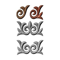 onlay14-00.JPG Download 3MF file Floral onlay relief for woodworking and plaster moldings 3D print model • Object to 3D print, RachidSW