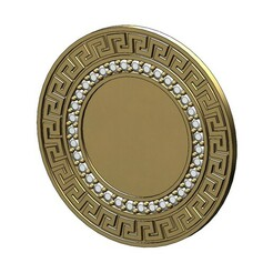 Greek-key-coin-00.JPG Download 3MF file Diamond Greek key picture frame pendant and coin 3D print model • 3D printable template, RachidSW