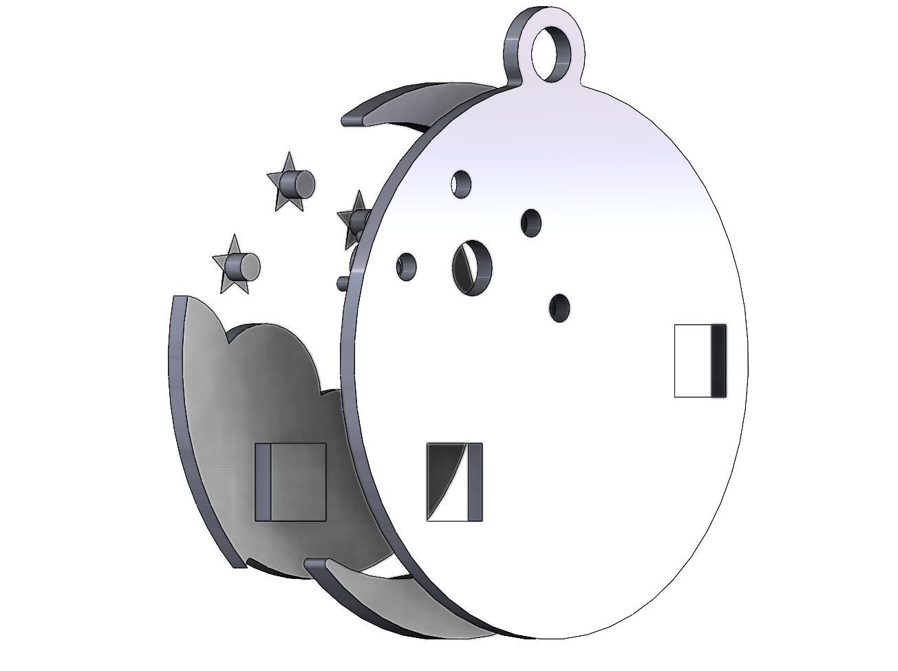 NIGHT-SKY-PENDANT-08.JPG Download 3MF file Night sky with stars pendant 3D print model • 3D print design, RachidSW