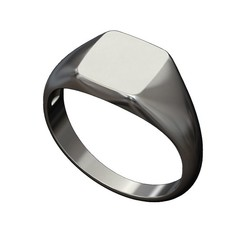 square-signet-ring-00.JPG Download 3MF file Engravable Square signet ring 3D print model • Object to 3D print, RachidSW