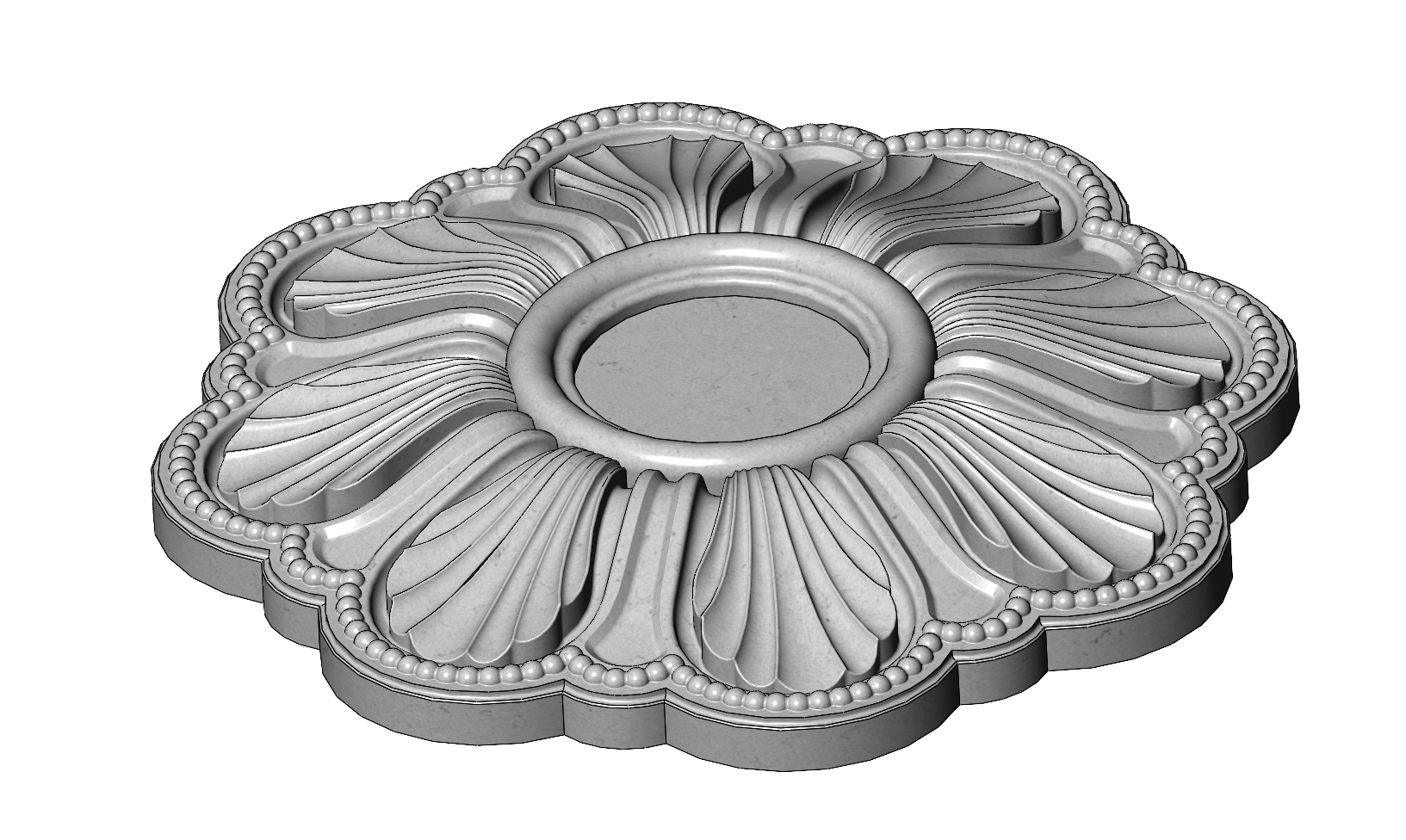 rosette5-1-03.JPG Download 3MF file Rosette plaster molding N01 3D print model • 3D printable model, RachidSW