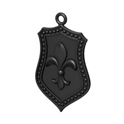 lys-sh-3-00.JPG Download 3MF file Fluer de Lis Shield Pendant N03 3D print model • 3D print model, RachidSW