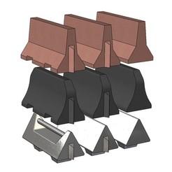 jersey-barrier-000.JPG Download 3MF file Miniature jersey barrier 3D print model • 3D printable design, RachidSW