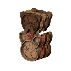 B6-BULLDOG-00.JPG Download 3MF file Bulldog wooden bowl 3D print model • 3D printer design, RachidSW