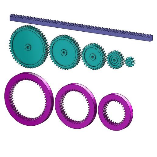 M1-GEAR-SET-000.JPG Download 3MF file Mini Spur Gears Metric Set 3D print model • 3D printing model, RachidSW