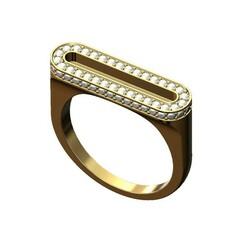 Diamond-slot-signet-ring-size7-00.JPG Download 3MF file Diamond Flat Top Slot Ring 3D print model • 3D print design, RachidSW