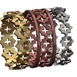 MOUCHA-MOTIF-RING-00.JPG Télécharger fichier 3MF Modèle d'impression 3D des anneaux à facettes de Moucharabeih • Design imprimable en 3D, RachidSW