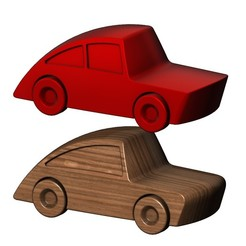 toy-car-00.JPG Download STL file Miniature car toy 3D print model • 3D print design, RachidSW