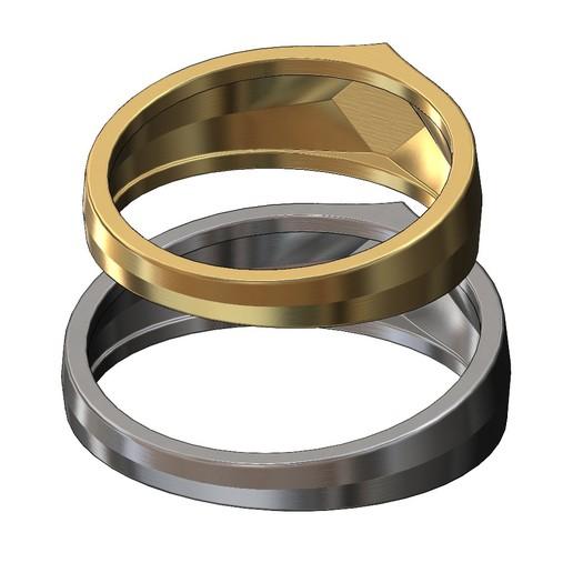 SQUARE-SIGNET-11.JPG Download 3MF file Simple quadrangle flat top signet ring 3D print model • 3D printable model, RachidSW