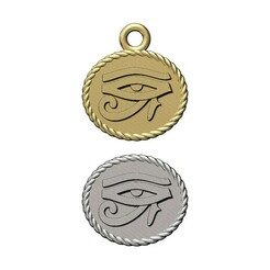 Horus-eye-rope-pendant-00.JPG Download 3MF file Eye of Horus rope ornament and charm 3D print model • 3D printing model, RachidSW