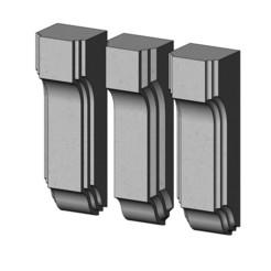Stacked Corbel and Bar Bracket-13-00.JPG Télécharger fichier 3MF Modèle d'impression 3D de corbeau et de console empilés • Objet pour impression 3D, RachidSW