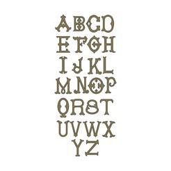 MONOGRAM-LETTERS-00.JPG Download STL file Vintage Monogram Font Letters Alphabet 3D print model • 3D printer design, RachidSW