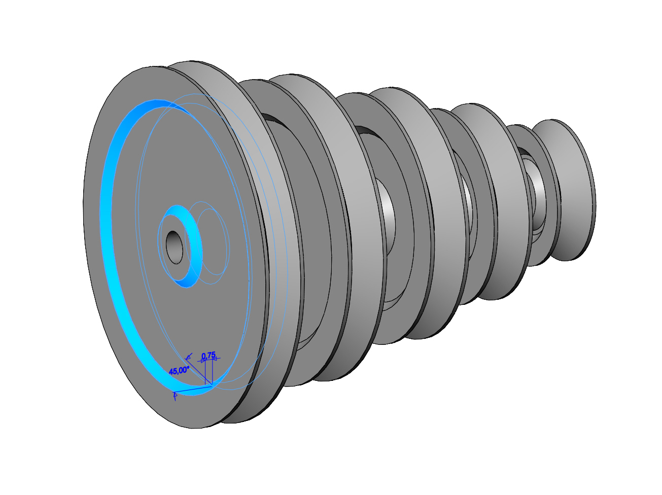 V-Pulleys-07.JPG Download 3MF file Mini Metric V Pulley Set 3D print model • Object to 3D print, RachidSW