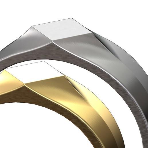 SQUARE-SIGNET-03.JPG Download 3MF file Simple quadrangle flat top signet ring 3D print model • 3D printable model, RachidSW
