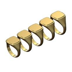 Square-signet-ring-00.JPG Download 3MF file Engravable Stepped Square signet ring 3D print model • 3D printer object, RachidSW