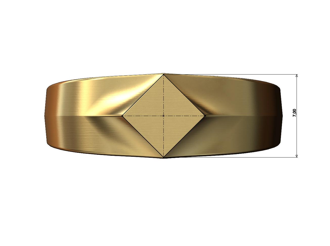 SQUARE-SIGNET-07.JPG Download 3MF file Simple quadrangle flat top signet ring 3D print model • 3D printable model, RachidSW