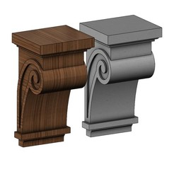 corbel11-00.JPG Download STL file Simple scroll Corbel 3D print model • 3D printing object, RachidSW