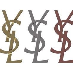 YSL-00.JPG Télécharger fichier 3MF Réplique du logo Yves saint laurent en 3D • Modèle à imprimer en 3D, RachidSW