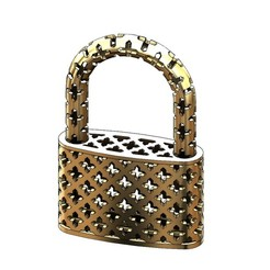 Download 3D printer designs Moucharabieh gold padlock 3D print model, RachidSW