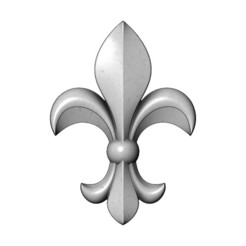 lys-V02-00.JPG Download 3MF file Heraldic lily relief for woodworking and plaster moldings 3D print model • 3D printing model, RachidSW