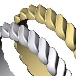 WAVE-CROISSANT-BRAID-RING-08.JPG Télécharger fichier 3MF Modèle d'impression 3D d'une tresse de croissant torsadé • Plan pour impression 3D, RachidSW