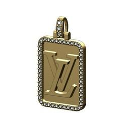 LV-Recta-memory-picture -pendant-frame-00.JPG Télécharger fichier 3MF Pendentif Louis Vuitton Rectanguler Diamond Modèle d'impression 3D • Modèle pour imprimante 3D, RachidSW