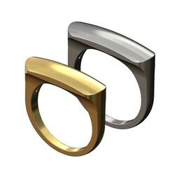 Dome-top-Slot-signet-00.JPG Download 3MF file Dome slot signet ring 3D print model • 3D printable object, RachidSW