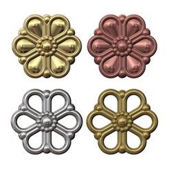 DAISLY-MINIATURE-CHARM-00.JPG Télécharger fichier 3MF Modèle d'impression 3D de pendentifs simples de fleurs de marguerites • Plan pour impression 3D, RachidSW