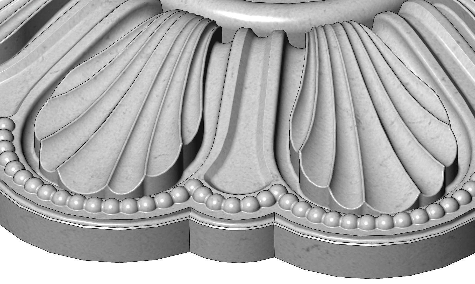 rosette5-1-06.JPG Download 3MF file Rosette plaster molding N01 3D print model • 3D printable model, RachidSW