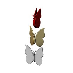 butterfly-00.JPG Download 3MF file Simplistic butterfly 3D print model • 3D printable model, RachidSW