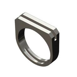 2Bar-flat-top-signet-00.JPG Télécharger fichier 3MF Modèle d'impression 3D d'une chevalière rectangulaire à 2 barres • Modèle imprimable en 3D, RachidSW