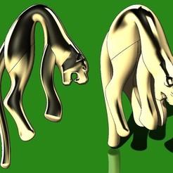 Download 3D printer templates Hanging Jaguar pendant 3D print model, RachidSW