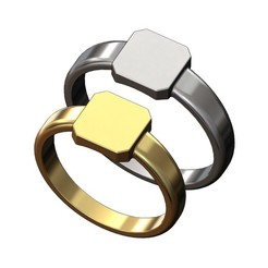 SQUARE-PLATE-SIGNET-RING-00.JPG Download 3MF file Square plate engravable signet ring 3D print model • 3D printing object, RachidSW