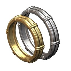 2-row-band-size7and10-00.JPG Download 3MF file Solid double wire ring with links 3D print model • 3D printable model, RachidSW